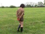 Amateurvideo Im Retro braun Leder-Outfit Handcuffed von bondageangel