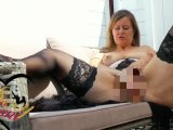 Amateurvideo Dildofick auf der Terrasse von SexyLeni