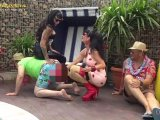 Amateurvideo Carmen Rivera & Lady Vampira are celebrating a pool party wi von LadyVampira