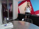 Amateurvideo Die BüroArschfickSchlampe! Mitten im Büro alle Löcher zer von Daynia